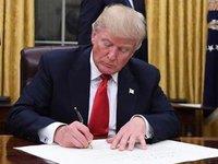 Трамп подписал указ об инструментах поддержания режима санкций против РФ