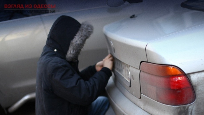 В Одессе задержан похититель автомобильных номерных знаков