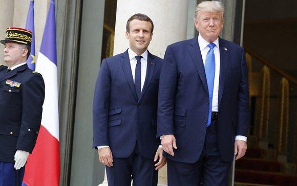 Трамп прибыл в Париж на встречу с Макроном