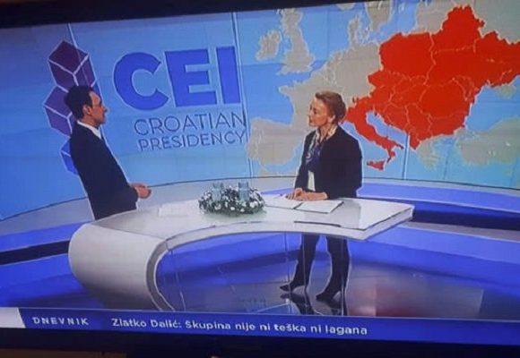 Хорватский телеканал просит прощение за демонстрацию карты Украины без Крыма