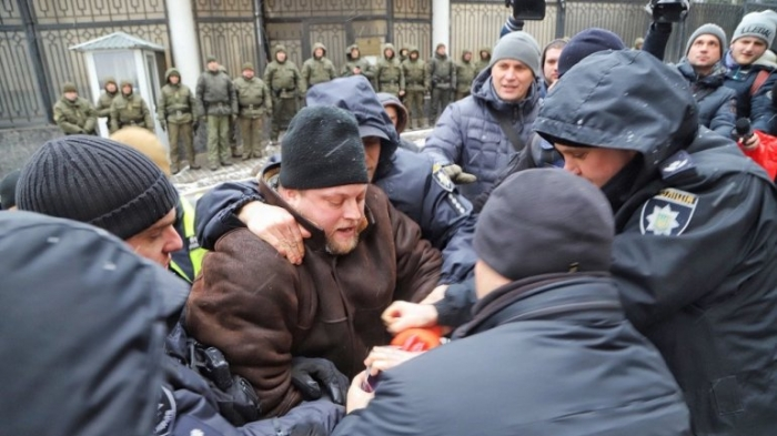 В Одессе полицейски задержали участников акции в поддержку плененных моряков