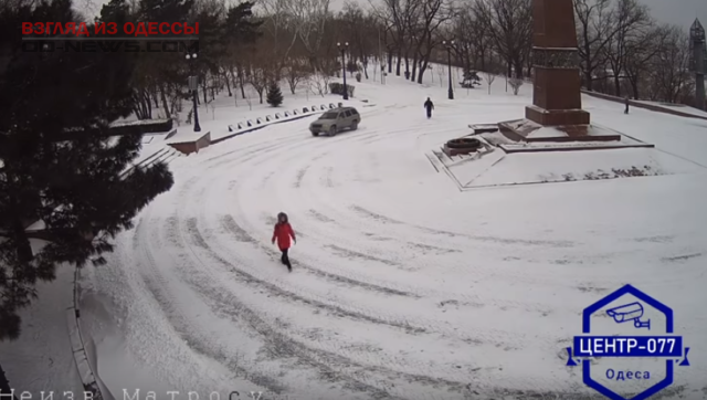 В парке Одессы замечен опасный «гонщик»